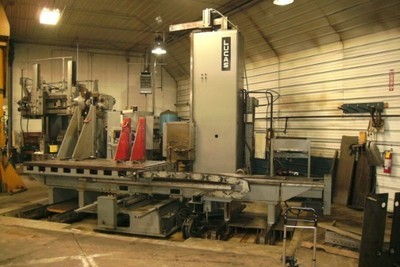"​1 – USED 5"" LUCAS 4-AXIS HORIZONTAL BORING MILL"