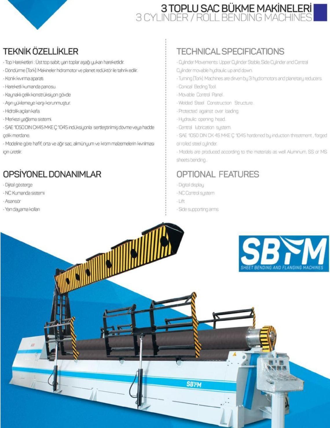 1 – NEW 3RH SBS 3090 HYDRAULIC BENDING ROLL