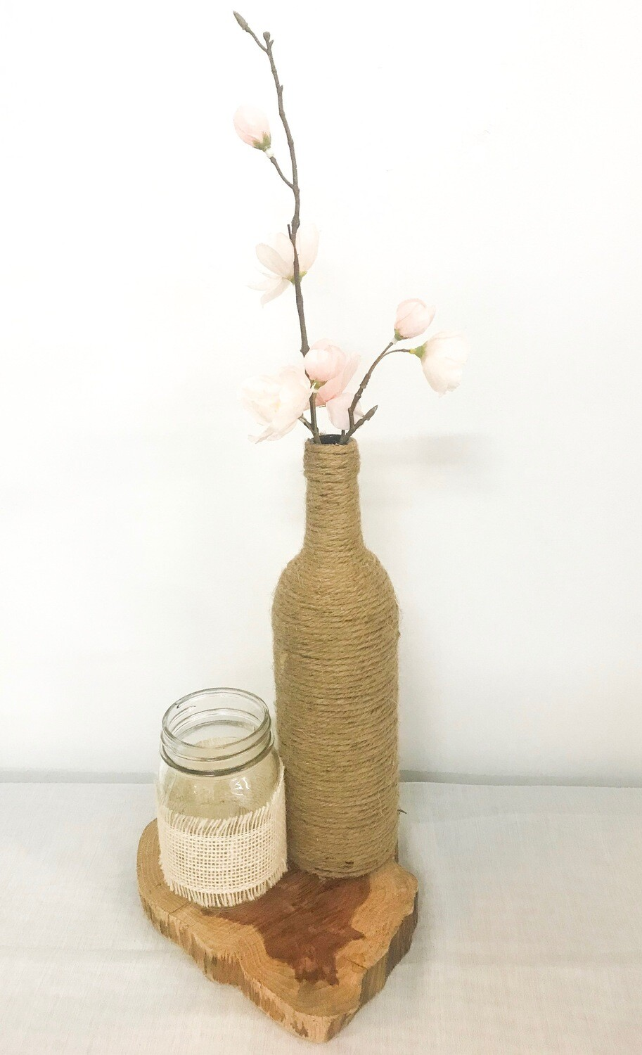 Twine Wrapped Wine Bottle 12