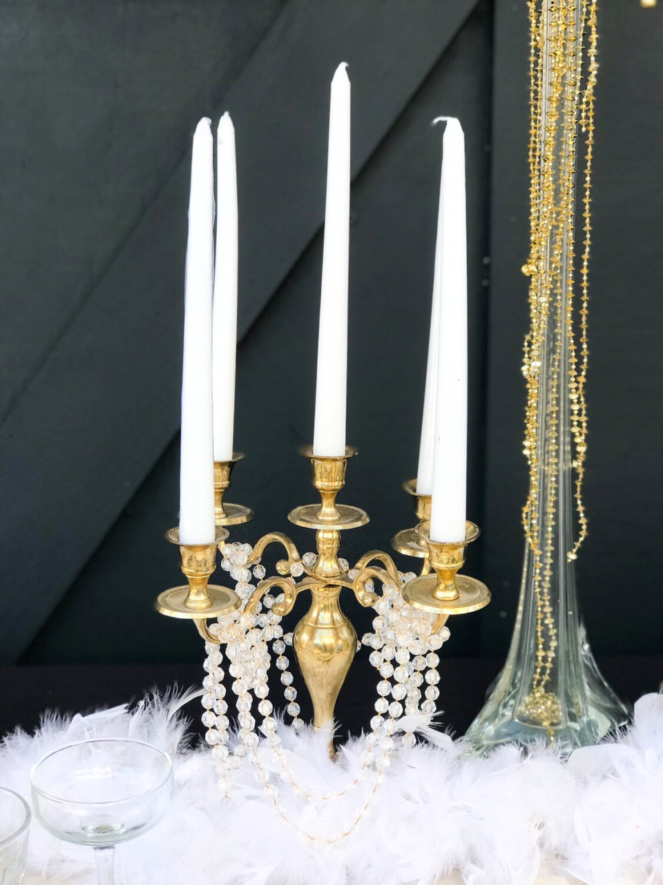 5L Gold Tableabra (11 inches tall)