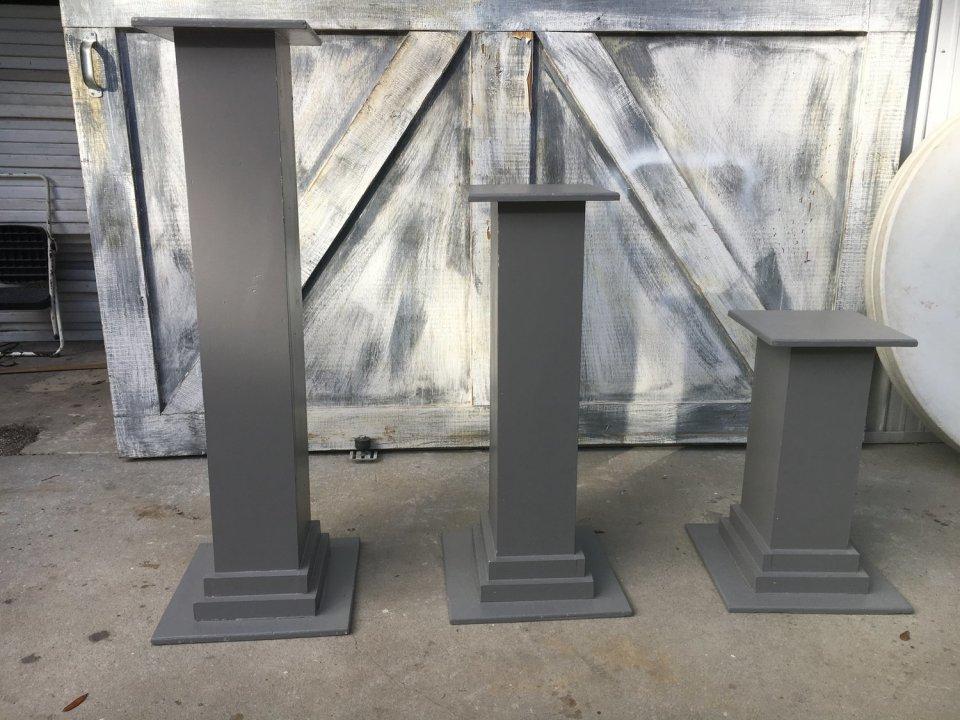 Grey Wooden Columns