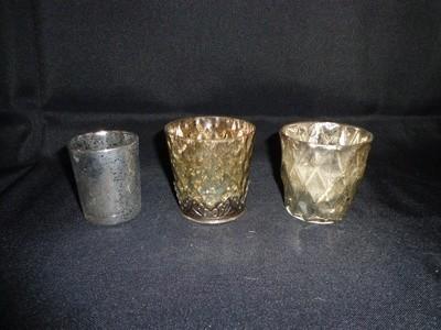 Votive Holder-Mercury Glass