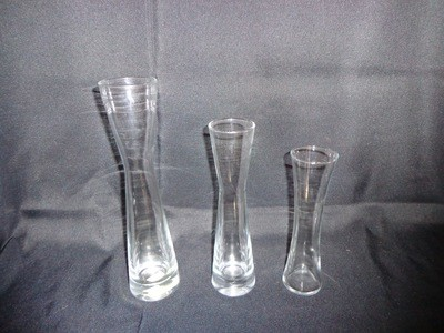 Hourglass Shaped Glass Vase 8