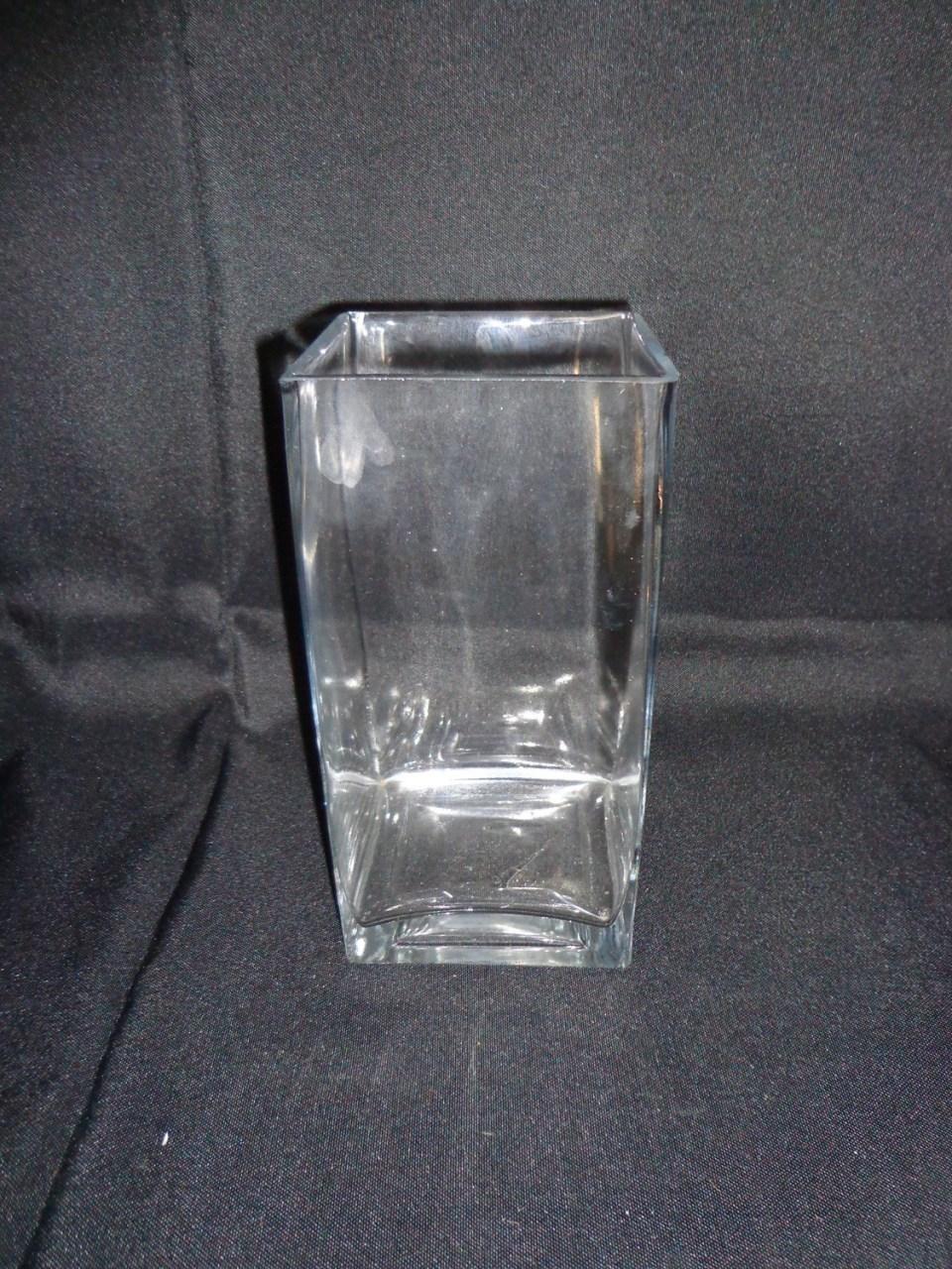 Square Glass Vase 8