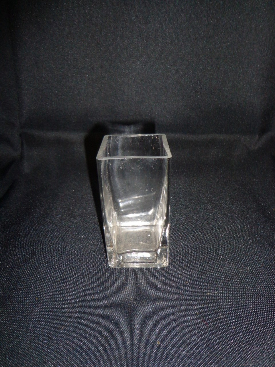 Square Glass Vase 3.5 Tall 3.5 Wide