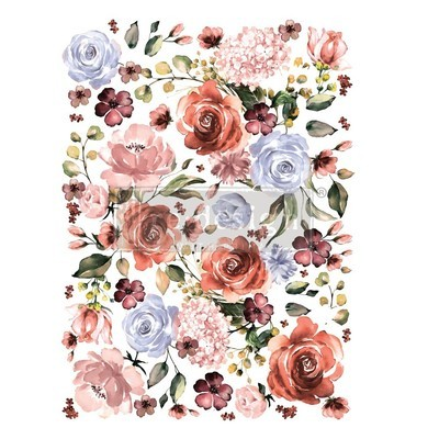 Prima Decor Transfer: Rose and Rouge