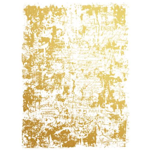 Prima Decor Transfer: Gilded Distressed Wall