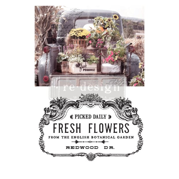 Prima Decor Transfer: Fresh Flowers (NEW!) Fresh Flowers