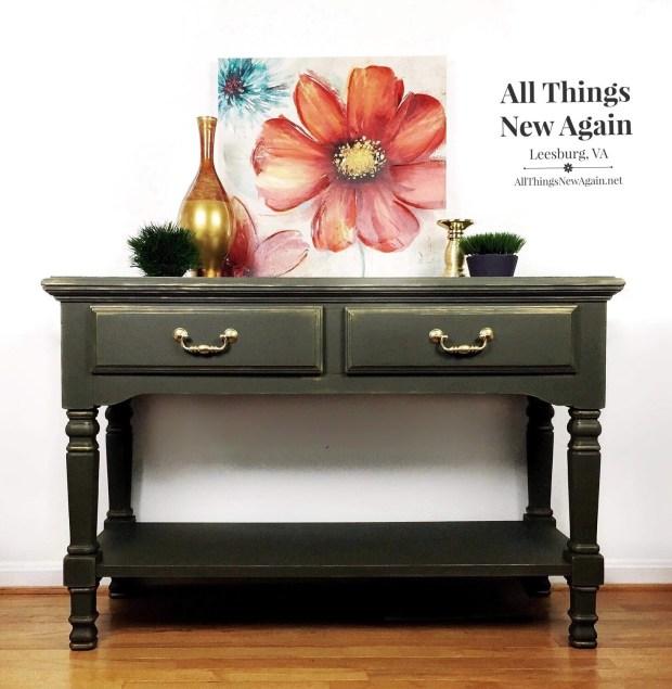 Furniture: Green Buffet / Sideboard / Sofa Table