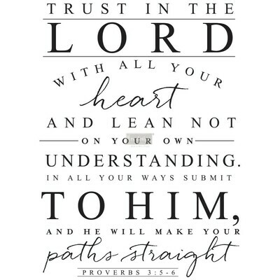 Prima Decor Transfer: Trust In The Lord
