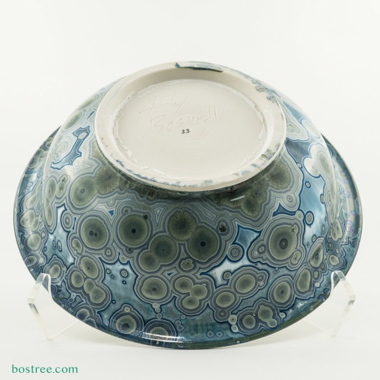 Crystalline Glaze Serving Bowl by Andy Boswell #ABB0033