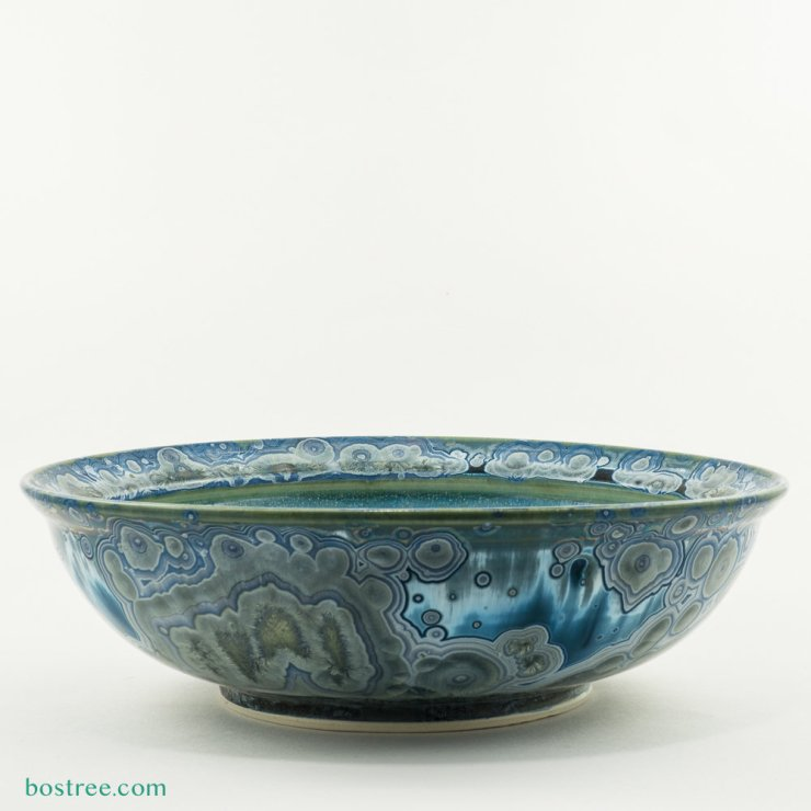 Crystalline Glaze Serving Bowl by Andy Boswell #ABB0033b