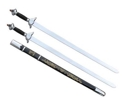 Espada Doble Recta de Wushu Flexible