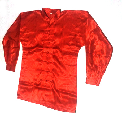 Uniforme Wushu/TaiChi Rojo en Poliseda 00212