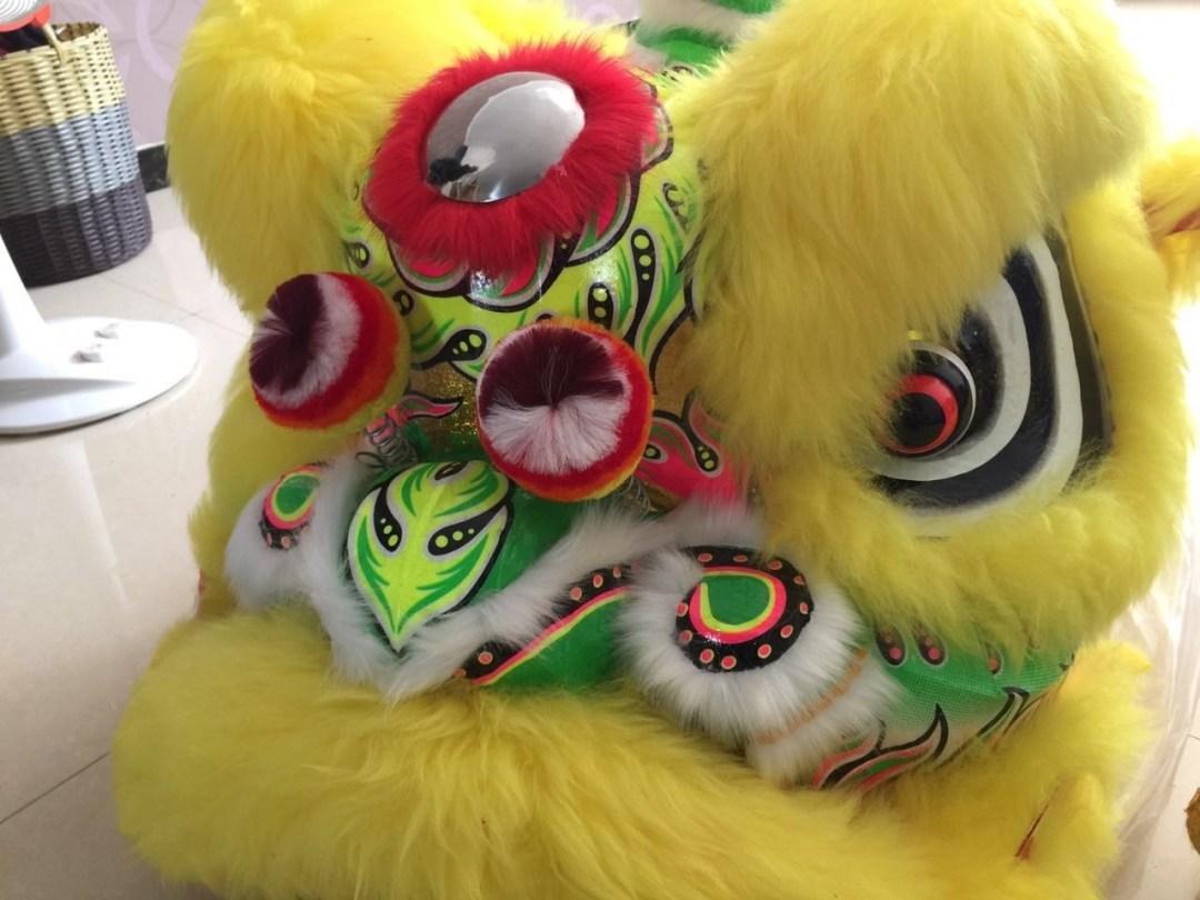 Leon Chino Danza de Leones hecho a mano de bambú