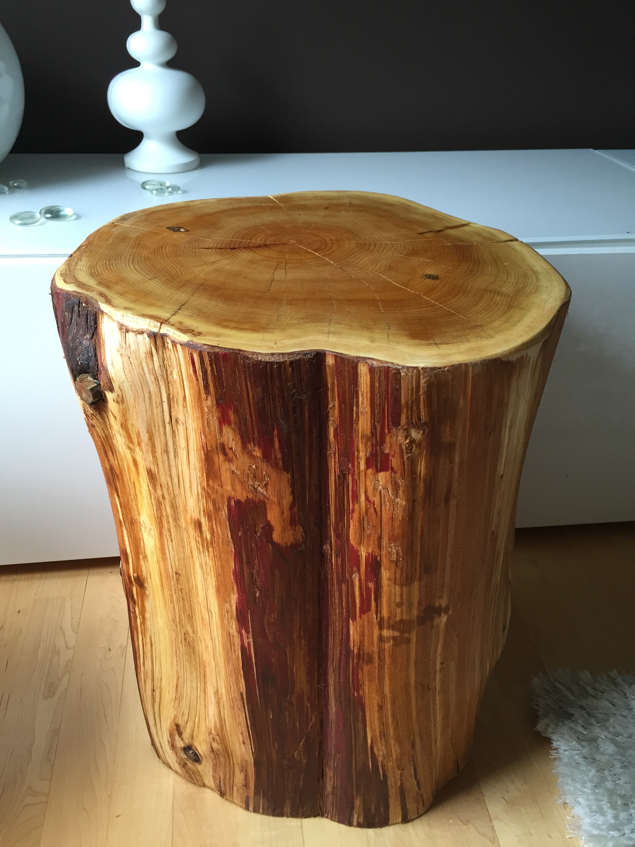 Stump Side Table Log Side Tables Rustic Coffee Table