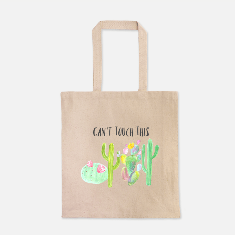 Can't Touch This - Canvas Tote 00069