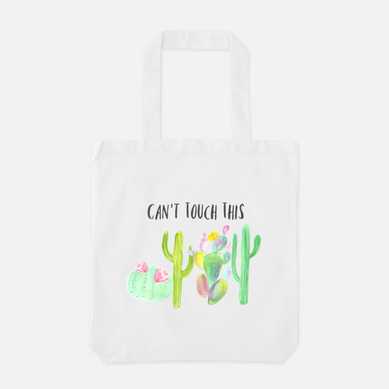 Can't Touch This - Canvas Tote