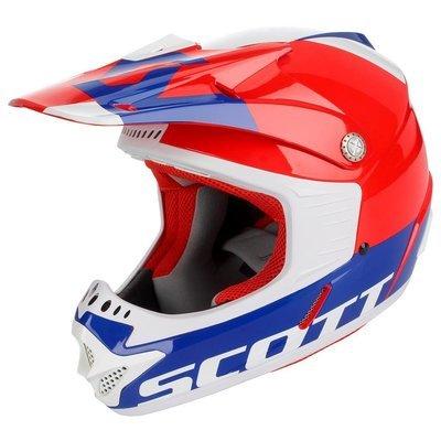 Scott 350 Hjelm - Barn Rød/Blå