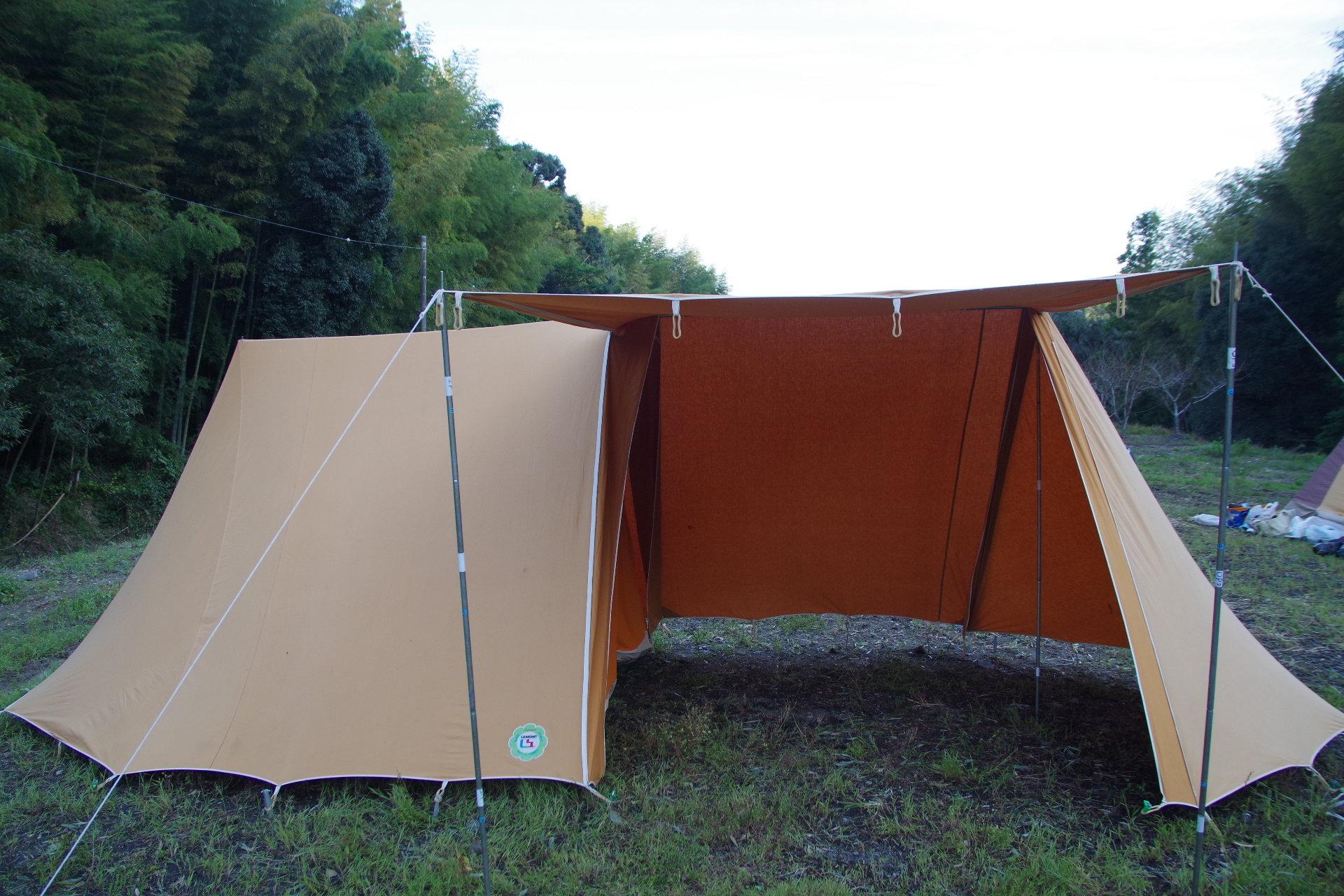 ラモン 大型スクータリスト ヴィンテージ幕 フレームテント バタースコッチ LAMONT 00045