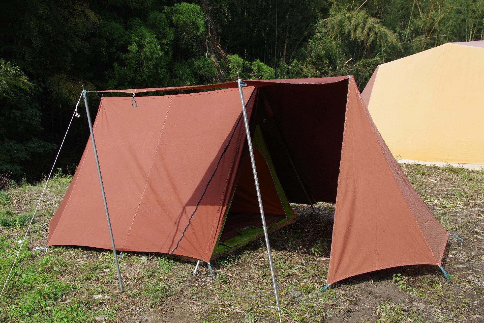 スクータリスト フルコットン ヴィンテージ幕  A型テント HAWLEY NOMAD 3 00076