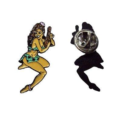 Ukulele Pin-Up Girl Badge