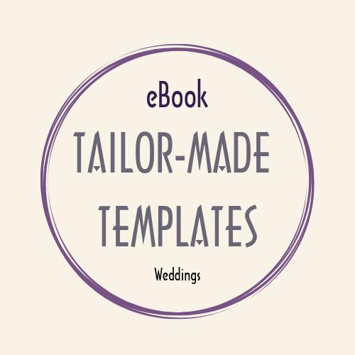 eBook WORD doc TAILOR MADE TEMPLATES weddings eBook worddoc mc wedding tailormade templates