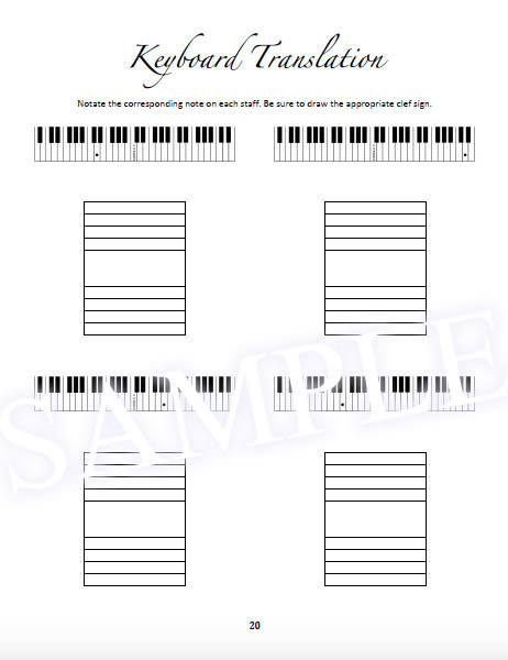 For the Love of Music Sample - Table of Contents Workbook Page