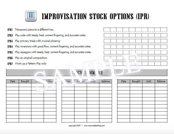 Quest for Capital Sample - Improvisation Stock Options