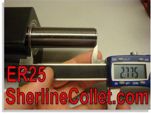 Sherline ER25 Spindle Upgraded Headstock