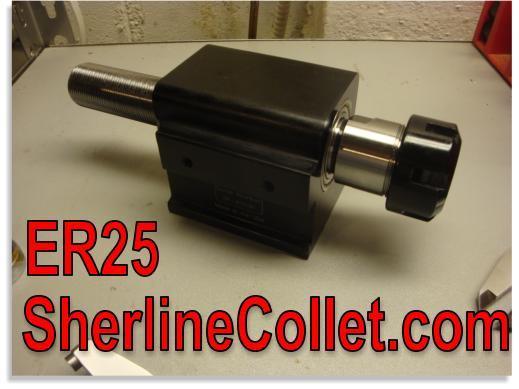 Sherline ER25 Spindle Upgraded Headstock S-ER25