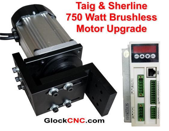Sherline & Taig Brushless Motor Upgrade 750 Watt CNC Controllable S750MC