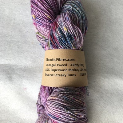 YARN - Donegal Tweed with Nepps - Hand Dyed - 100g