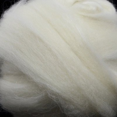 BFL/Kid Mohair Top - White