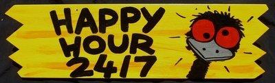 Happy Hour 24/7 Sign