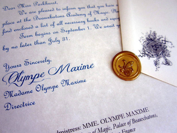 French Wizarding School Letter Wax Seal
