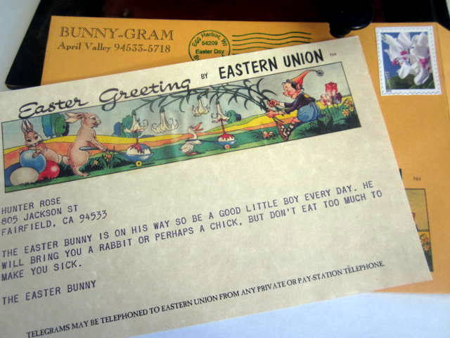 Easter Bunny Telegram Bunny-Gram elf1016