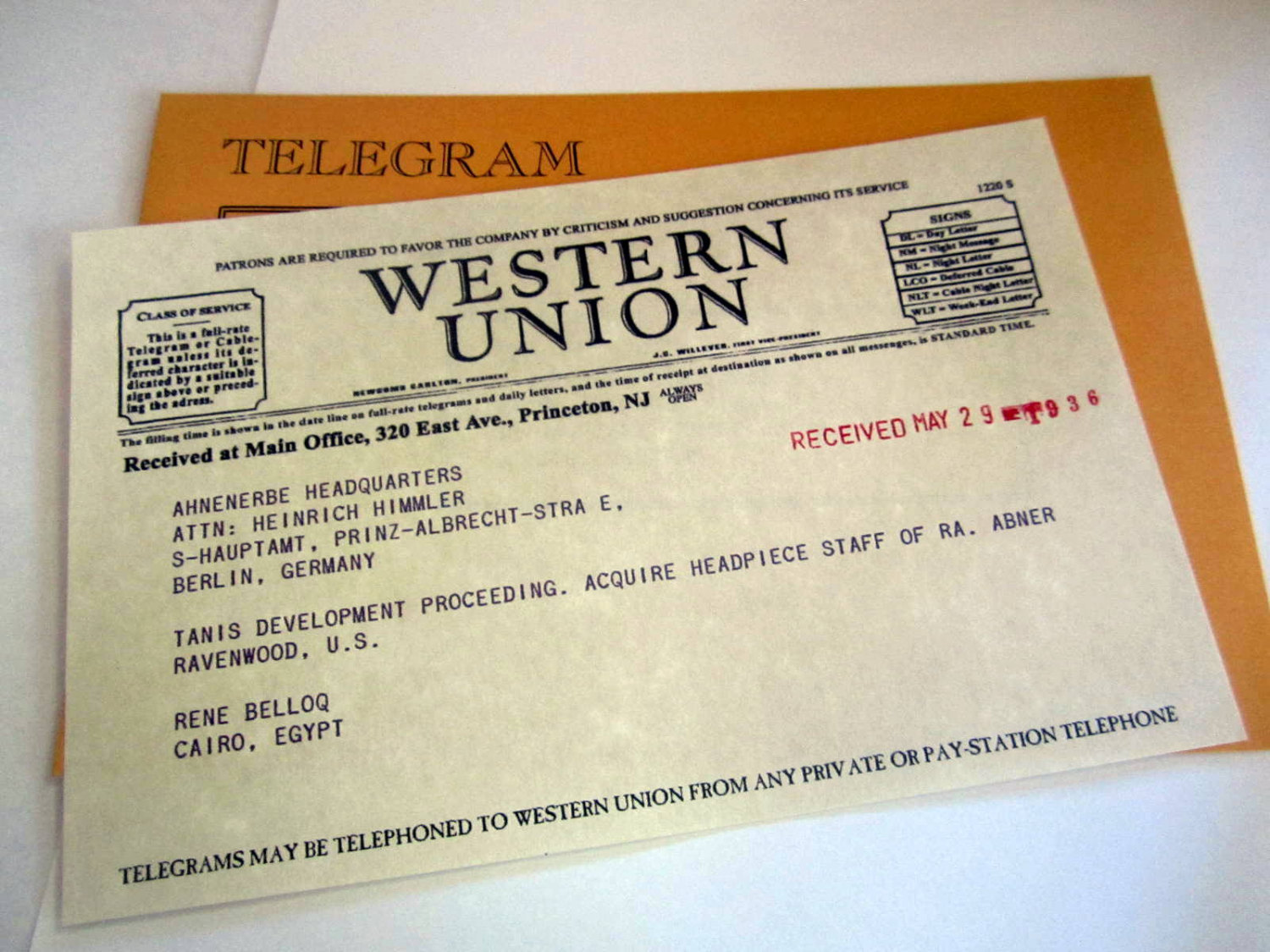 Old Time Replica Telegram elf1092
