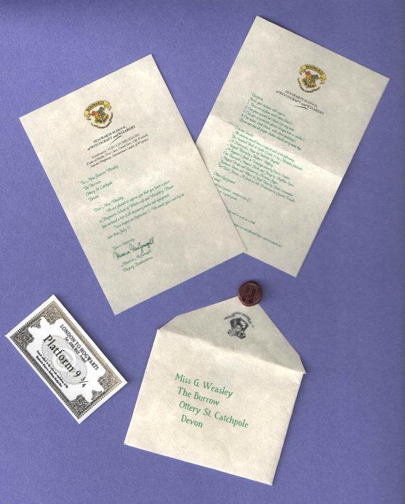 Mini Acceptance Letter & Ticket