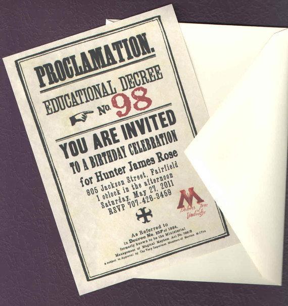 Proclamation Invitations