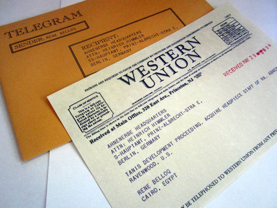 Replica Western Union Telegram