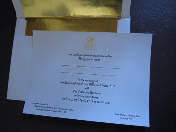 William & Kate Wedding Invitation