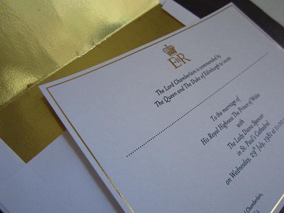 Charles & Diana Wedding invitation