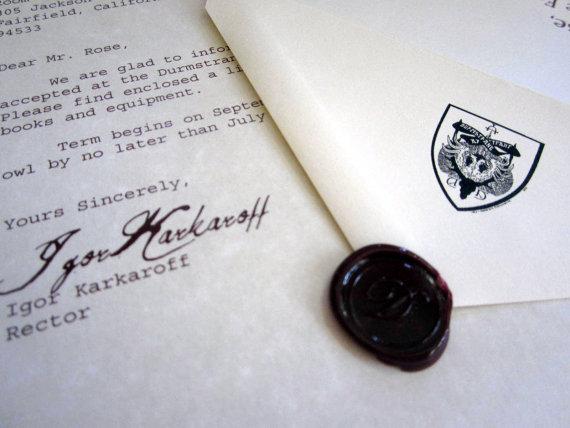 Wizarding Acceptance Letter (Scandinavian School) elf1014