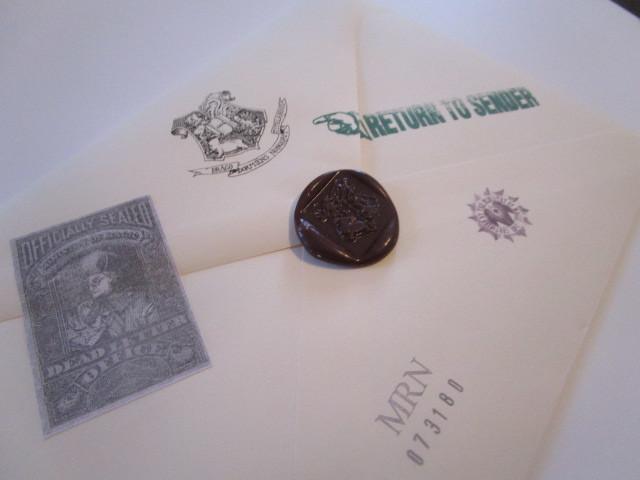 Dead Letter Office envelope back