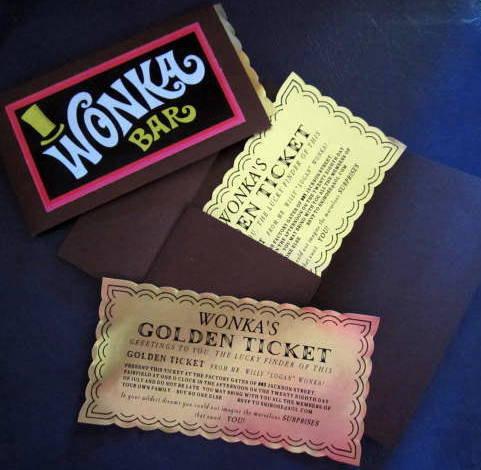 Custom Golden Ticket in Folder