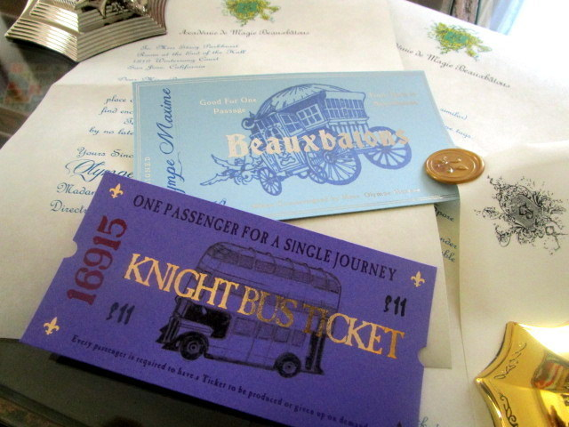 French Wizarding School Letter & Tickets