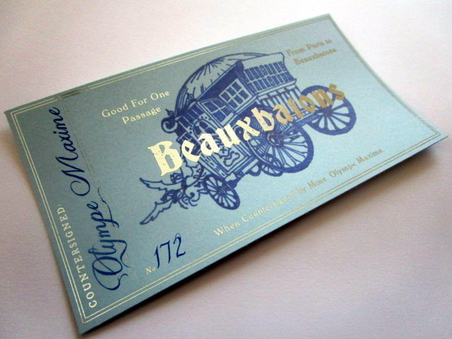 French Wizarding School Stagecoach Ticket 00019