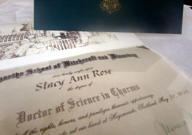 *Wizarding College Diploma 00011