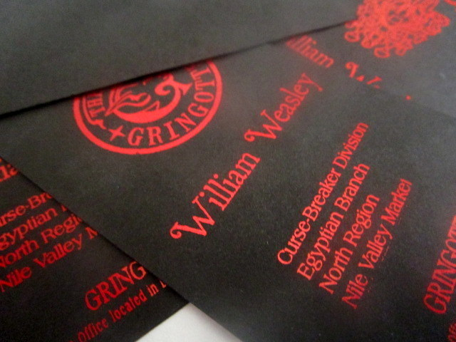 Wizarding Bank Business Cards (10) elf1021